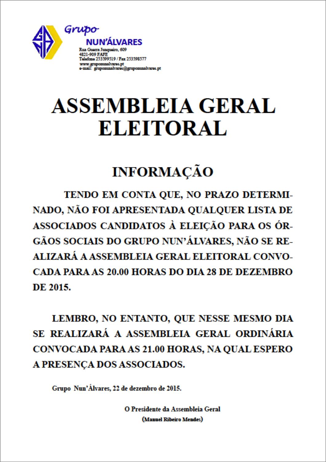Assembleia Eleitoral