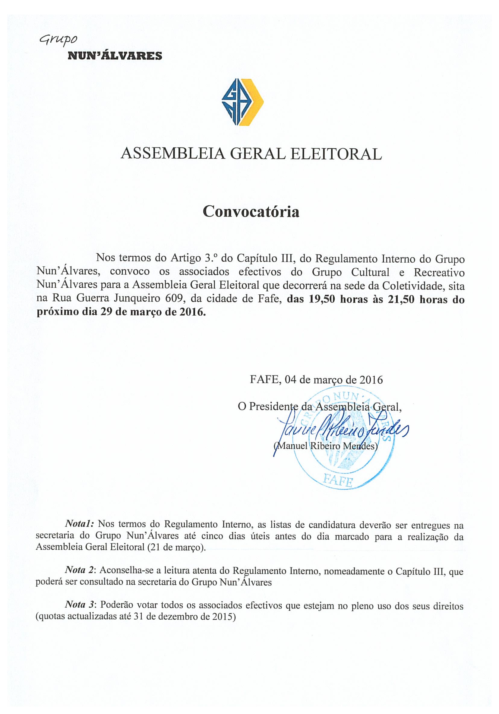 Ass Geral Eleitoral