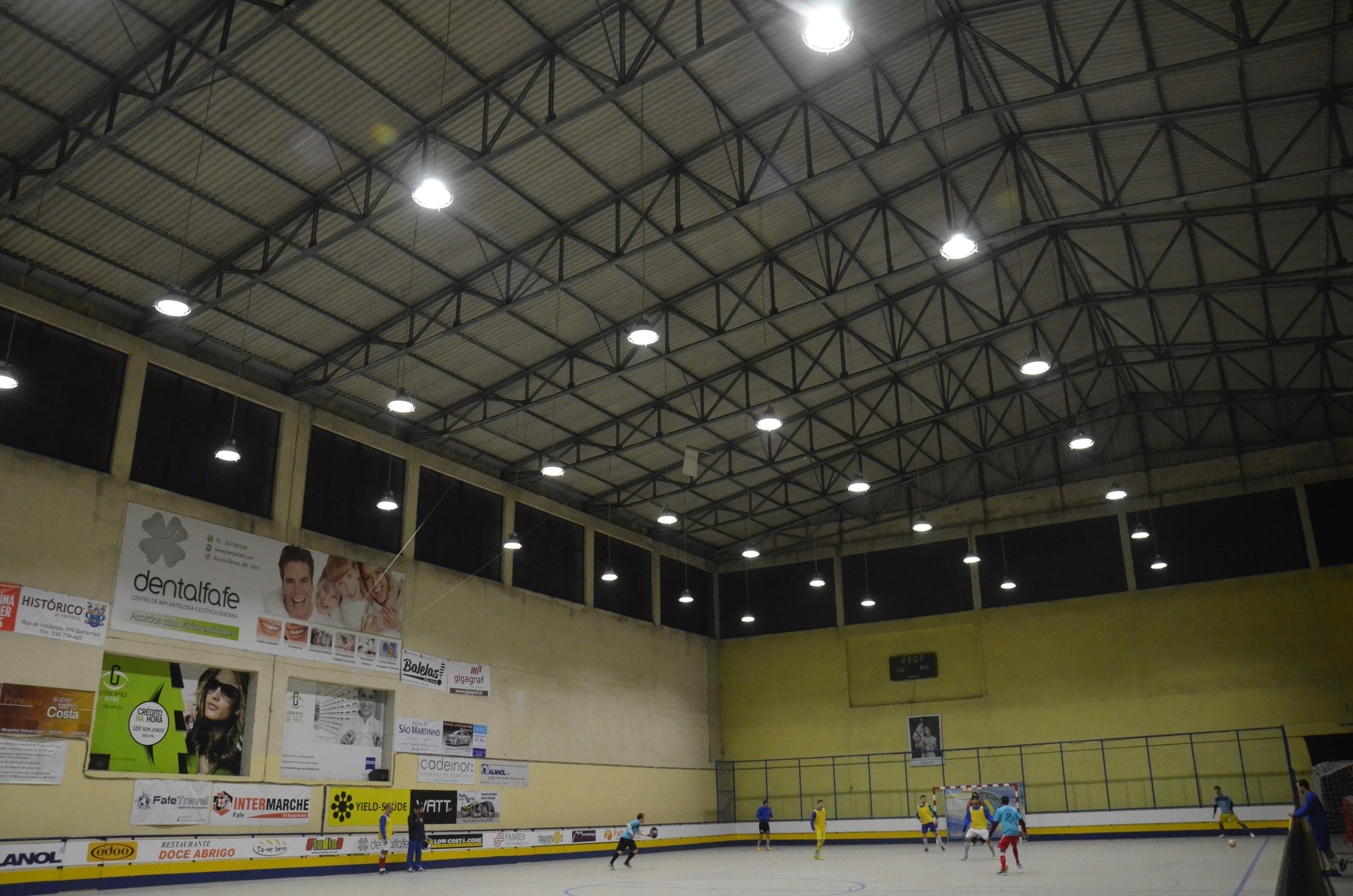Nova iluminação do pavilhão